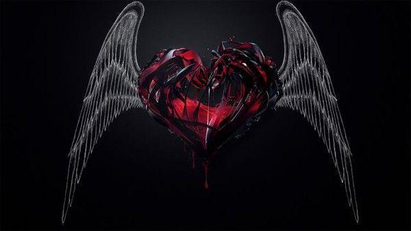 Coeurs belles images - Dessin de coeur avec des ailes ...