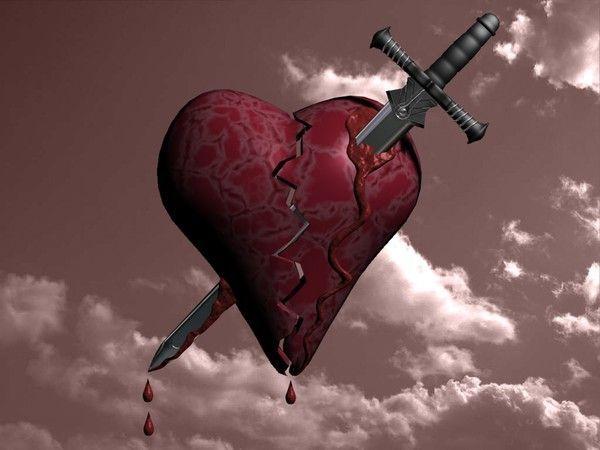 Coeur bris fond d 39 cran - Dessin de coeur brise ...